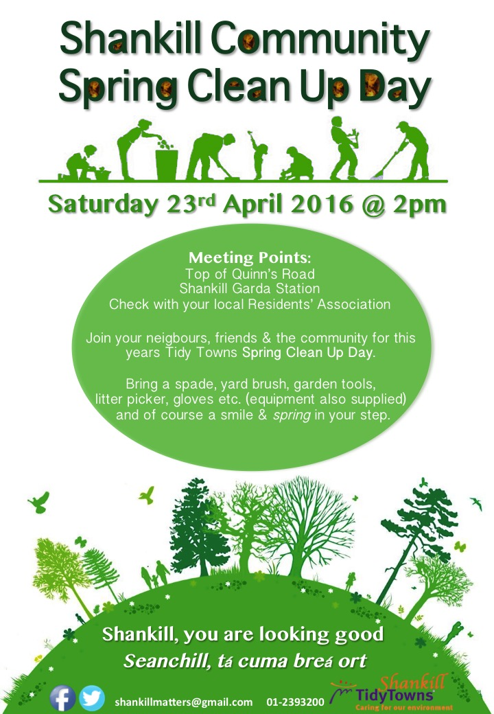 Shankill Community Spring Clean Up Day – Saturday 23rd April 2016