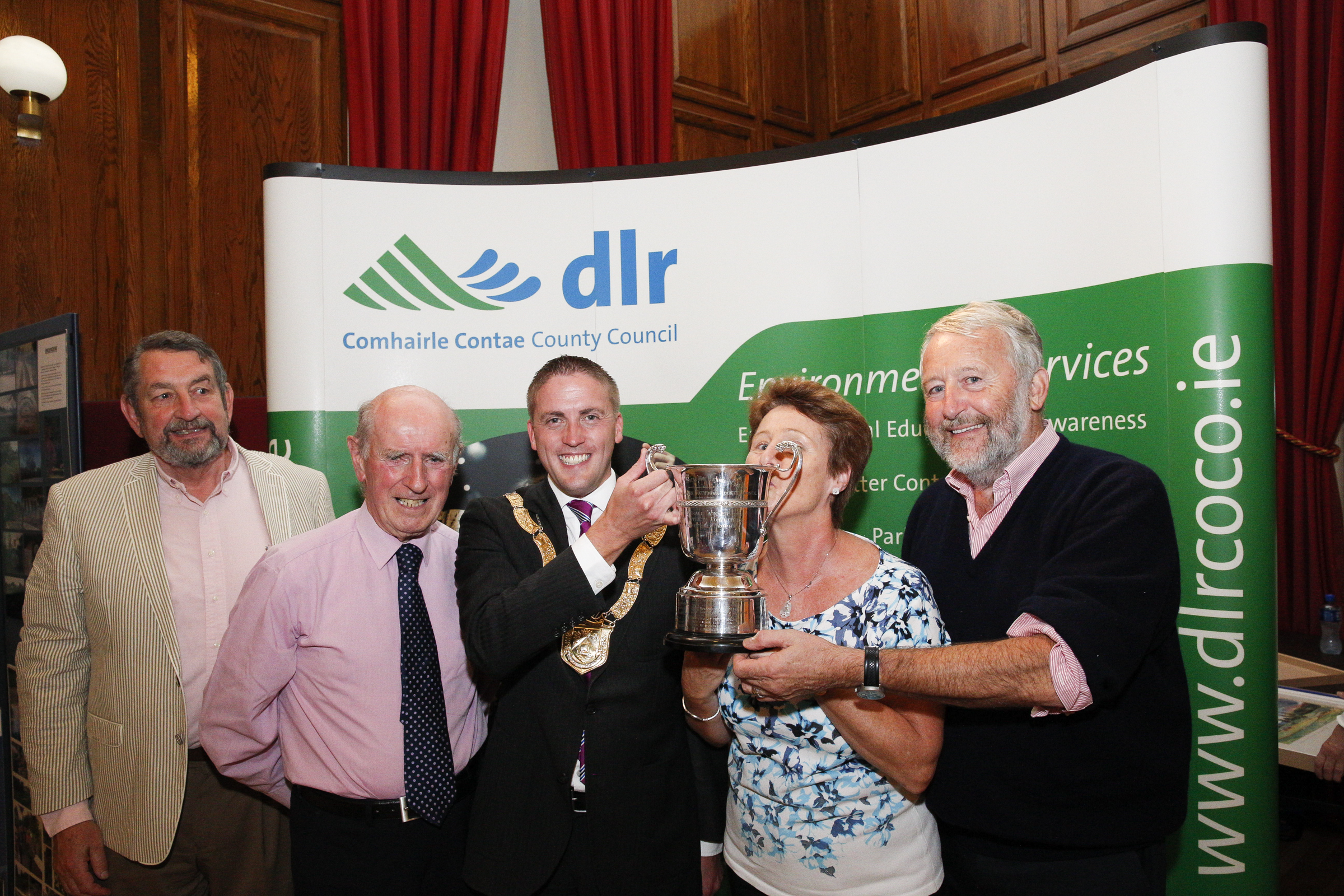 28th September 2016 - Dun Laoghaire - Pictured at County Hall, Dún Laoghaire, where the winners were announced in the Dún Laoghaire-Rathdown County Council Tidy Districts Awards were, left to right,  © Photo by Peter Cavanagh - Must Credit No Reproduction Fee