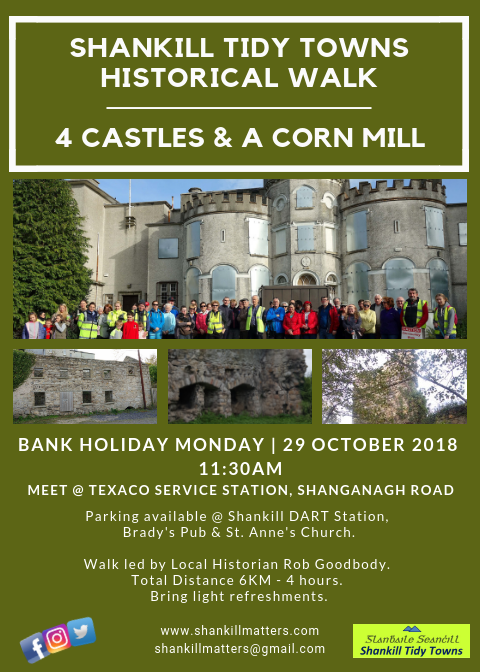 "<img src=""http://shankillmatters.com/wp-content/plugins/my-calendar/images/icons/event-2.png"" alt=""Category: Community"" class=""category-icon"" style=""background:#eadd2c"" /> Shanks Mare Community Walk 4 Castles & a Corn Mill"